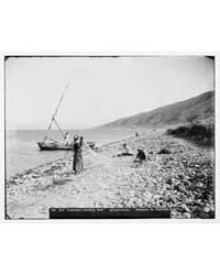 Northern Views. Fishermen Mending Their ... by American Colony Jerusalem