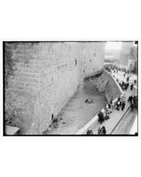 Moat Around Tower of David, Photograph 0... by American Colony Jerusalem