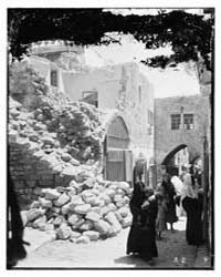 Earthquake Damage, Photograph 10436V by American Colony Jerusalem