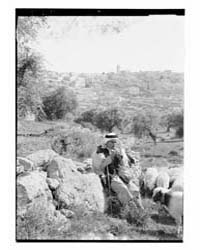 Shepherd Playing Pipes Outside Bethlehem... by Library of Congress