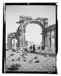 Palmyra Tadmor. Triumphal Arch, Central ... by American Colony Jerusalem