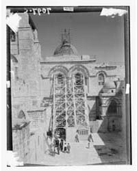 Church of the Holy Sepulchre. Façade. Fo... by American Colony Jerusalem