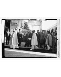 Haile Selassie Group at Jerus. RR Sta. I... by Library of Congress