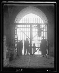 Putting Iron Gates at Herod's Gate Oct. ... by American Colony Jerusalem