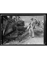 G.O.C. Visits Overturned Locomotive on t... by American Colony Jerusalem