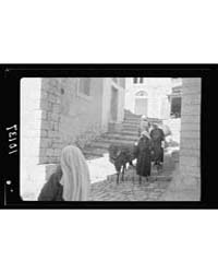 Street of Steps in Bethlehem with Woman ... by American Colony Jerusalem