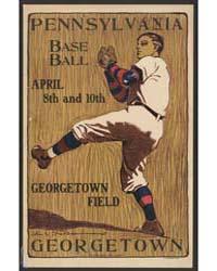 Pennsylvania Vs Georgetown, Base Ball, A... by Sheridan, John E.