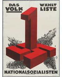 Das Volk Wählt Liste 1 Nationalsozialist... by Rehse Archiv Für Zeitgeschichte Und Publizistik