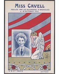 Miss Cavell Fusillée Par Les Allemands À... by K.B. Co.