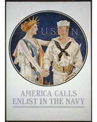America Calls - Enlist in the Navy ; Jc ... by Leyendecker, J. C.