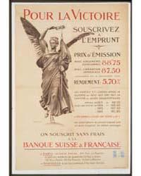 Pour La Victoire Souscrivez Á L'Emprunt ... by Crauk, Adolphe