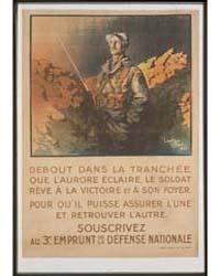 Debout Dans La Tranchée Que L'Aurore Écl... by Droit, Jean