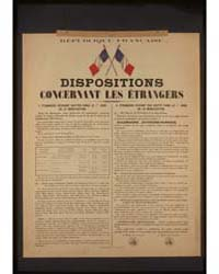 Disposition Concernant Les Étrangers, Ph... by Library of Congress