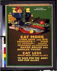 Eat More Corn, Oats and Rye Products -, ... by Britton, L. N