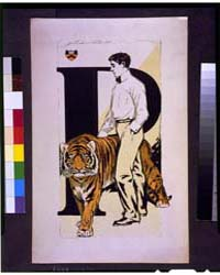 Student Standing Alongside Tiger ; John ... by Galbraith, John Weston