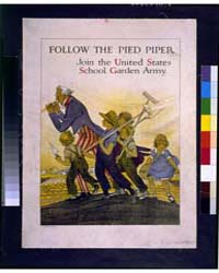 Follow the Pied Piper Join the United St... by Barney, Maginel Wright