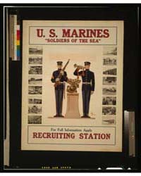 US Marines Soldiers of the Sea - for Ful... by Leyendecker, J. C.
