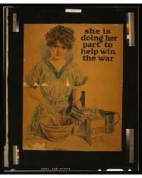 She is Doing Her Part to Help Win the Wa... by Christy, Howard Chandler