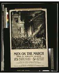 Men on the March Pipes & Tobacco League ... by Brangwyn, Frank