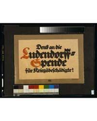 Denk on Die Ludendorff-spende Für Kriegs... by Bernhard, Lucian