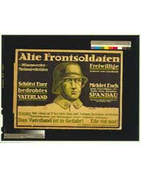 Alte Frontsoldaten, Das Vaterland is in ... by Pohle, R.