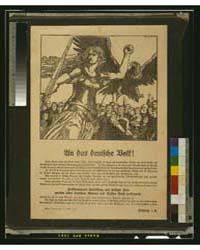 An Das Deutsche Volk, Hellflammende Entr... by Stassen, Franz