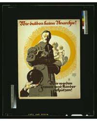 Wir Dulden Keine Anarchie ; Siegm V Such... by Suchodolski, Siegmund Von