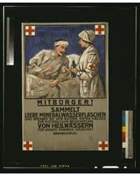 Mitbürger Sammelt Leere Mineralwasserfla... by Library of Congress