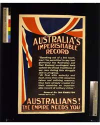 Australia's Imperishable Record, Austral... by Library of Congress