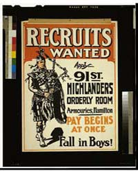 Recruits Wanted, Fall in Boys, Photograp... by Library of Congress