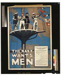 The Navy Wants Men, Photograph 3G12671V by Library of Congress