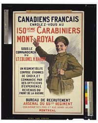 Canadiens Francais Enrolez-vous Au 150Ie... by Library of Congress