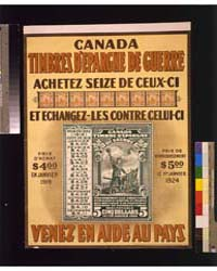 Canada Timbres D'Epargne De Guerre Venez... by Library of Congress