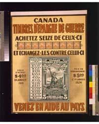 Canada Timbres D'Epargne De Guerre Venez... by Library of Congress