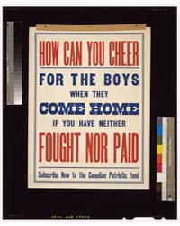 How Can You Cheer for the Boys when They... by Library of Congress