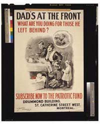Dad's at the Front What Are You Doing fo... by Library of Congress