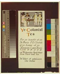 Ye Colonial Tea, Photograph 3G13247V by Penfield, Edward