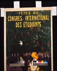 Fêtes Du Congrès International Des Étudi... by Cappiello, Leonetto