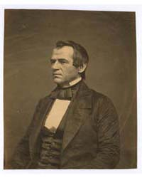 Andrew Johnson, Half-length Portrait, Se... by Whitehurst, Jesse Harrison