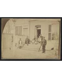 Two Unidentified Soldiers and Others at ... by Library of Congress