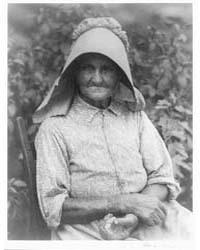 Woman in Printed Dress and Sunbonnet, Ph... by Ulmann, Doris