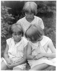 Three Little Girls, Photograph Number 3A... by Ulmann, Doris