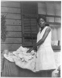 Negro Girl Ironing, Photograph Number 3A... by Ulmann, Doris