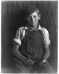 Boy in Overalls and Cap, Photograph Numb... by Ulmann, Doris