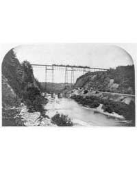 The New Iron Railway Bridge at Portage, ... by Walker, L. E.