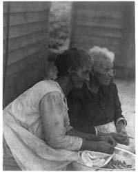 Two Women Stringing Beans, Photograph Nu... by Ulmann, Doris
