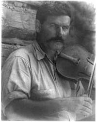 Man with Violin, Photograph Number 3B015... by Ulmann, Doris