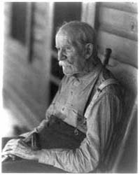 Old Man Seated in Chair, Photograph Numb... by Ulmann, Doris
