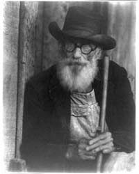 Old Man Holding a Pole, Photograph Numbe... by Ulmann, Doris