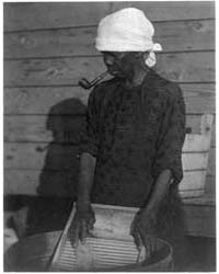 African American Woman with Scrub Board,... by Ulmann, Doris